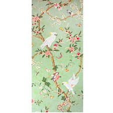 Verdigris Asian Wallcovering by Brunschwig & Fils