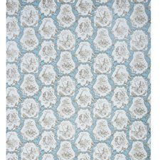 Sepia On Powder Blue Toile Wallcovering by Brunschwig & Fils