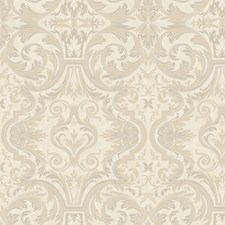Yellow Damask Wallcovering by Brewster