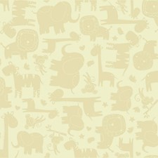 Yellow/Beige/Yellow Animals Wallcovering by York