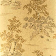 Taupe/Gold Botanical Wallcovering by G P & J Baker