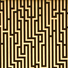 Black/Gold Geometric Wallcovering by G P & J Baker