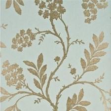 Aqua/Bronze Botanical Wallcovering by G P & J Baker
