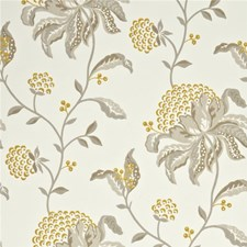 Linen/Strong Yellow Botanical Wallcovering by G P & J Baker
