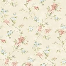 CCB02131 Lorraine Lily Peach Floral by Brewster