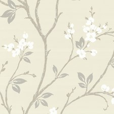 Ivory Wallcovering by Brewster