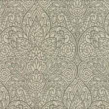 Brown/Metallic Copper Damask Wallcovering by York