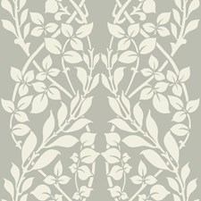Metallic Gray/Off White Sculptured Finishes Wallcovering by York