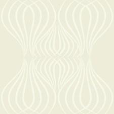Pearl Cream/White Geometrics Wallcovering by York
