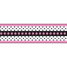 Pink/Black Sure Strip Wallcovering by York