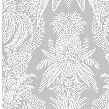 Bianco/Grigio Wallcovering by Scalamandre Wallpaper