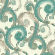 White/Strong Turquoise/Light Blue Traditional Wallcovering by York