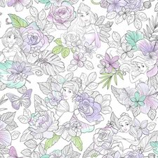 DI0964 Disney Princess Royal Floral by York