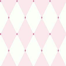Light Pink/White/Bright Pink Disney Wallcovering by York
