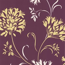 Purple Silhouette Wallcovering by Brewster