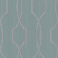 Shining Silver/Deep Aquamarine Trellis Wallcovering by York