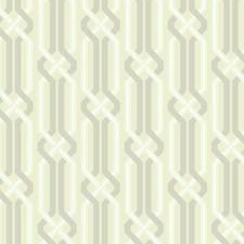 Rich Cream/Silver Sheen/White Trellis Wallcovering by York