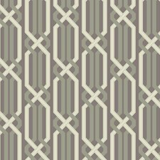 Silver Sheen/Putty Grey/Green Trellis Wallcovering by York