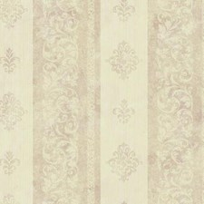 Metallic Pink/Cream/Beige Stripes Wallcovering by York