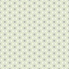 Cream/Asparagus Green/Loam Brown Dots Wallcovering by York