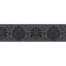 FDB07502S Black Campbell Peel & Stick Border by Brewster