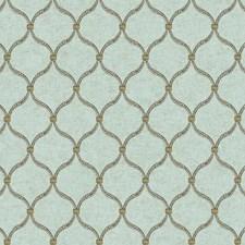 Pale Aqua/Grey/Tan Geometrics Wallcovering by York