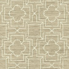 Shades Of Beige/Cream Faux Grasscloth Wallcovering by York