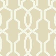 Beige/Cream Geometrics Wallcovering by York