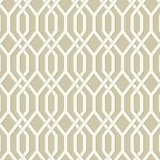 Light Brown/White/Medium Grey Geometrics Wallcovering by York