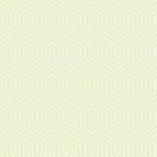 Beige Pearl/Dark Cream Geometrics Wallcovering by York