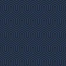 Blue Pearl/Navy Blue Geometrics Wallcovering by York