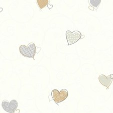 Gold/Silver/Pearl Children Wallcovering by York