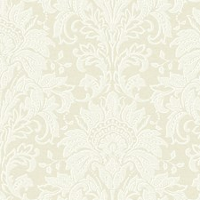 Linen Beige/Off White Damask Wallcovering by York