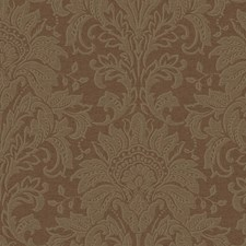 Chocolate Brown/Dark Chocolate/Pearled Soft Gold Damask Wallcovering by York