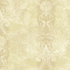 Shimmering Sand/Pale Cream Damask Wallcovering by York
