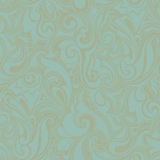 Turquoise/Gold Bohemian Wallcovering by York