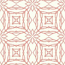 White/Coral Bohemian Wallcovering by York