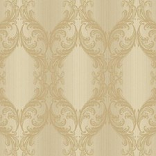 Beige/Gold Stripes Wallcovering by York