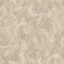 Taupe/Grey/Gold Scroll Wallcovering by York