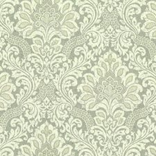 Blues/Beiges Damask Wallcovering by York