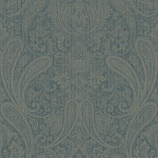 Blue Traditional Wallpaper Wallcovering by Brewster