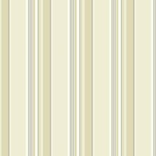 Off-white/Cream/Beige Stripes Wallcovering by York