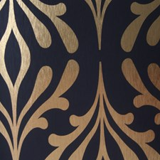 Onyx Black/Gold Foil Contemporary Wallcovering by York