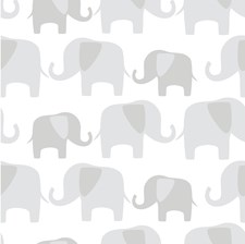 NU1405 Gray Elephant Parade Peel & Stick by Brewster