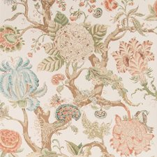 Coral Botanical Wallcovering by Lee Jofa Wallpaper