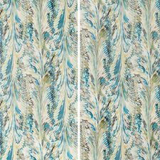 Peacock/Gold Modern Wallcovering by Lee Jofa Wallpaper