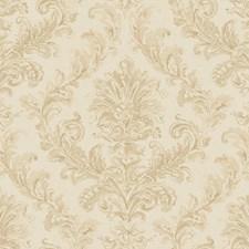 Wheat/Pale Khaki/Buff Acanthus Wallcovering by York