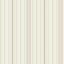 Cream/Pale Green/Amethyst Stripes Wallcovering by York
