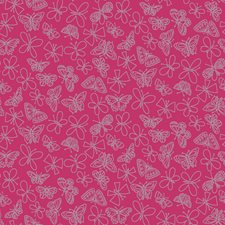 Hot Pink Bugs Wallcovering by York
