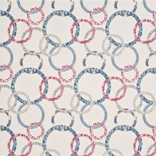 Cherry/Denim/Cream Wallcovering by Baker Lifestyle Wallpaper